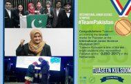Pakistani Team won Bronze Medal in International Junior Science Olympiad
