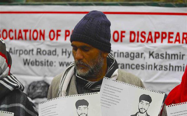 APDP activists protest in Srinagar