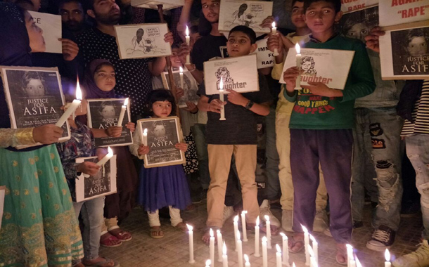 """Candle Light march  """"at Peer bagh ,group demands justice for Asifa"""