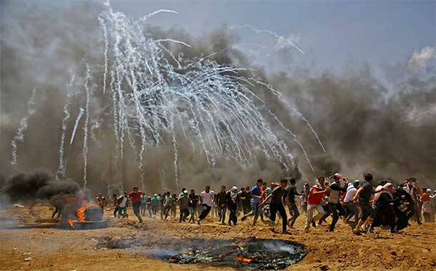 Death toll of Palestinians in Gaza reaches 58, thousands injured