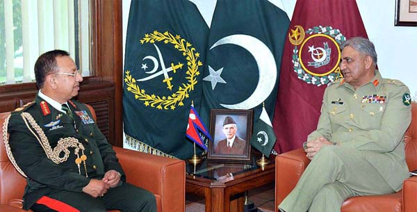 Nepalese Army Chief calls on COAS, acknowledges Pak efforts for regional stability