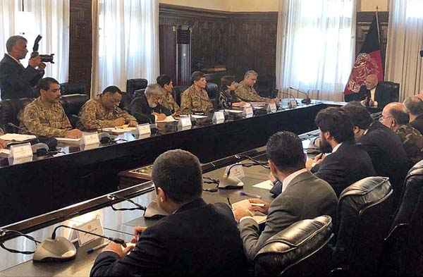 COAS holds meetings with Afghan President, CE, Commander RSM