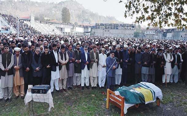 Renowned Kashmiri Politician Sardar Khalid Ibrahim buried in Rawalakot