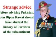 Advice of Indian Army Chief