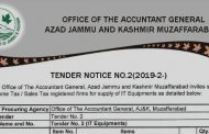 Office of Accountant General AJK Invites Sealed Bids From Income Tax/ Sales Tax Registered Firms For IT Related Equipment