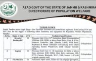 One Envelope Procedures are invited from Registered Firms for supply of office machinery in Population Welfare Department AJK