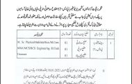 Interview schedule for ad hoc appointment in Electricity Department of AJK