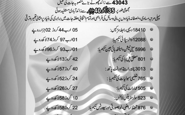 PMLN government's five-year rural construction and development performance report AJK