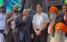 Hundreds gathered at historic Times Square to commemorate Kashmir Martyr's Day