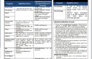 Women's University Bagh AJK has issued advertisements for admissions in various classes